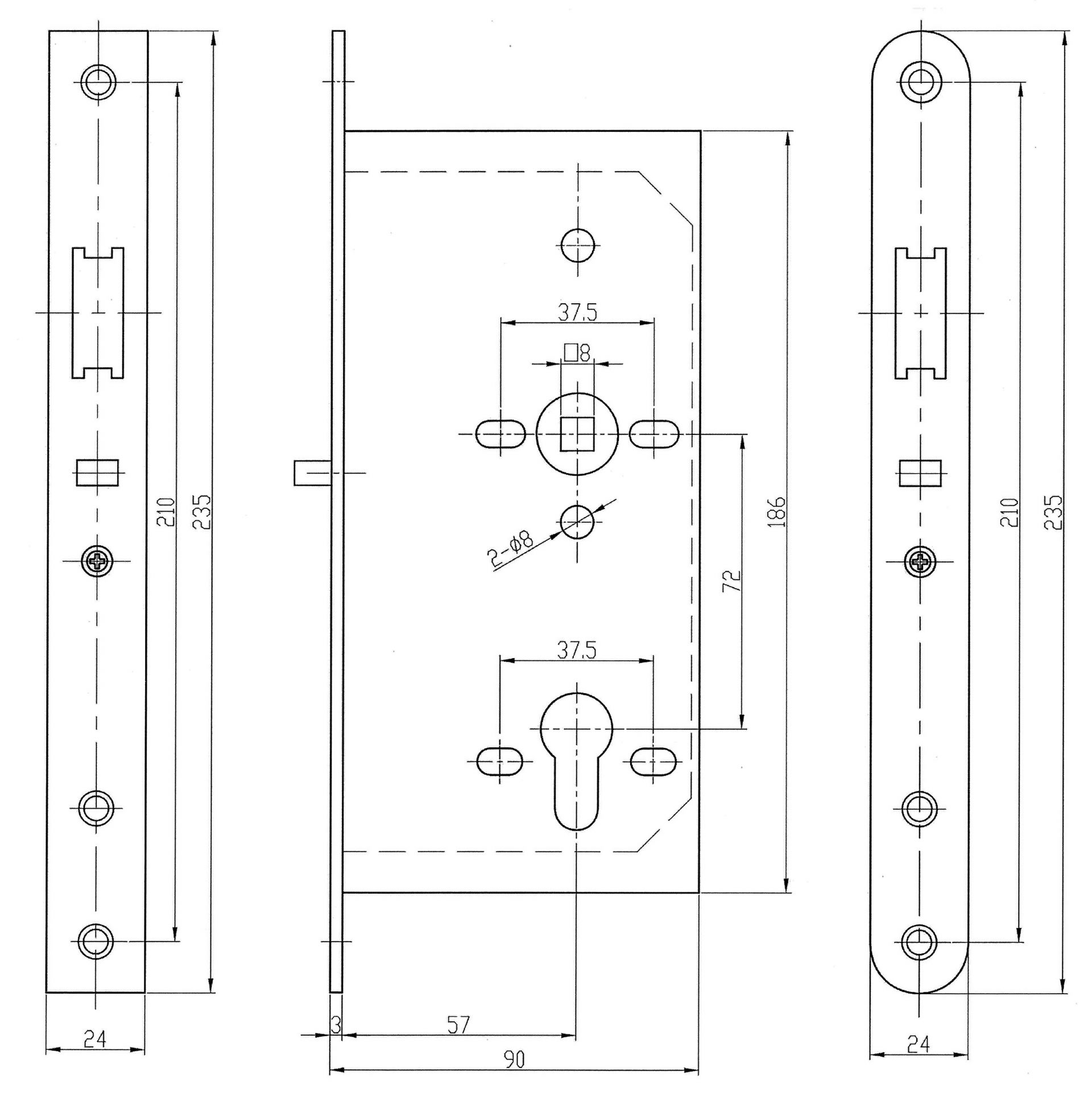 Technical Drawing Din Standard Allenbradley Micro810 Quick Tutorial Latched Switching Zts Array Night Latch C W Anti Thrust Bolt Nl1 At Sss Newstar Rh New