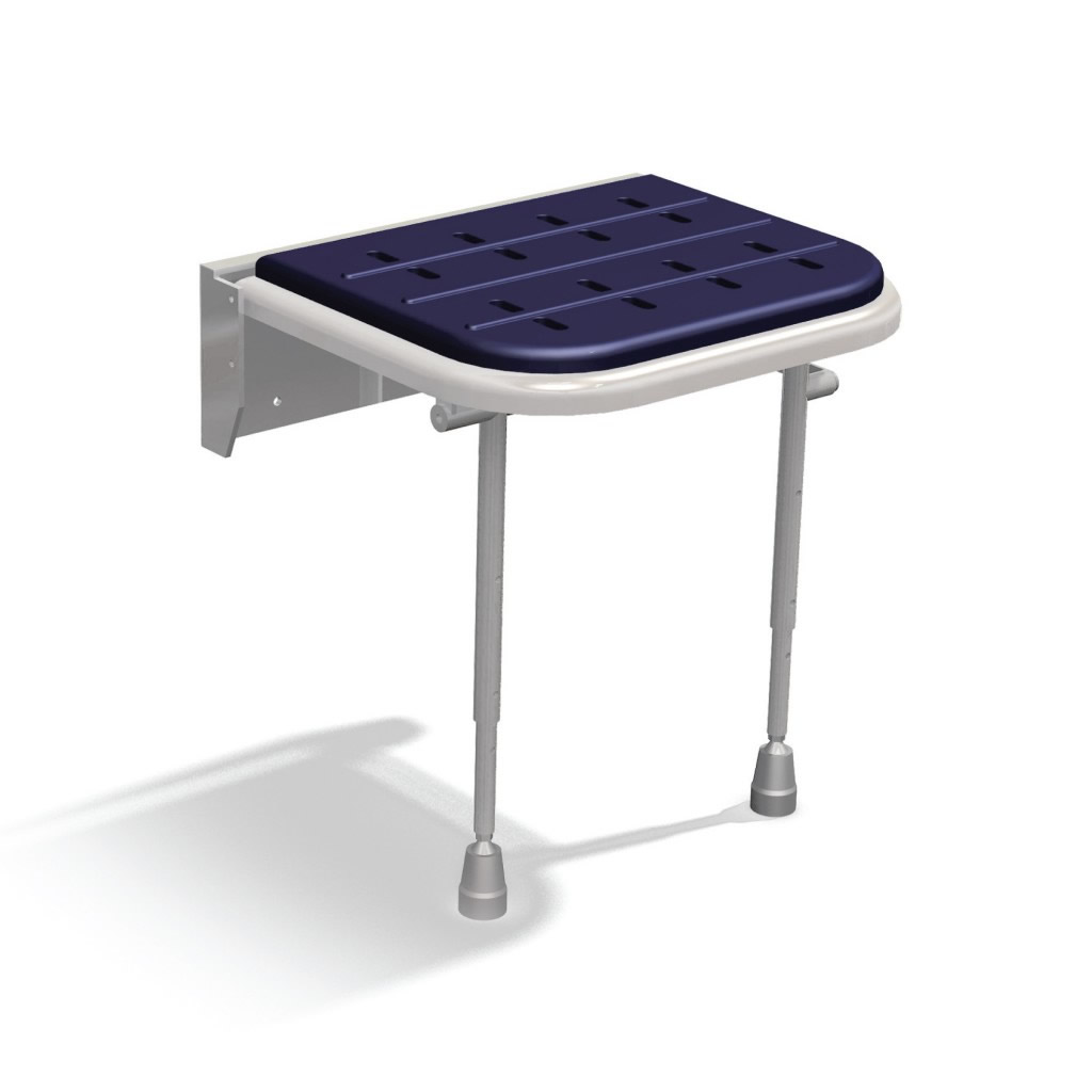 Newstar wall mounted padded shower seat with legs NS.DSS3