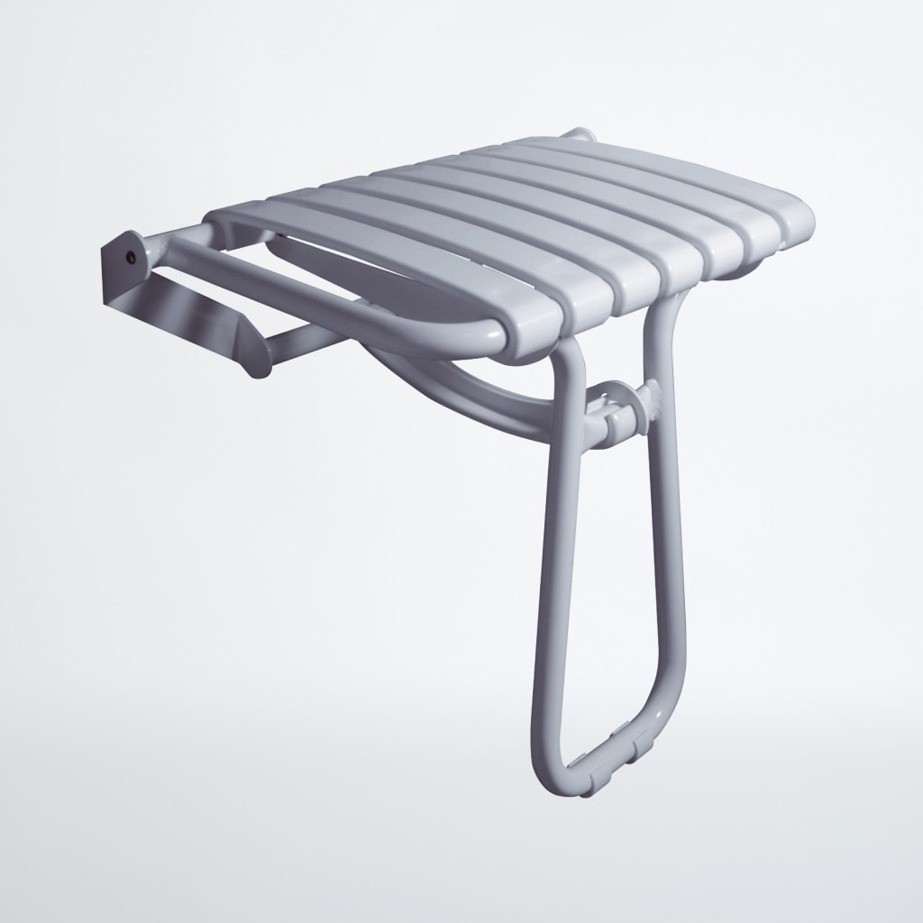 Newstar Extra wide slatted shower seat with legs NS.DSS6E Line Drawing